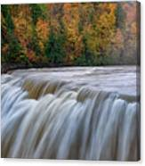 Autumn At The Middle Falls  Canvas Print