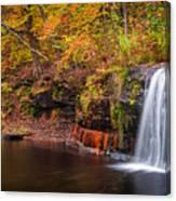 Autumn At Wolf Creek Falls Canvas Print