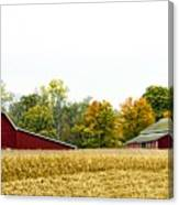 Autumn Barns Canvas Print