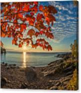 Autumn Bay Near Shovel Point Canvas Print