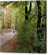 Autumn Bicycling Vertical One Canvas Print
