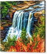 Autumn Blackwater Falls - Paint 3 Canvas Print