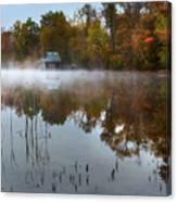 Autumn Boathouse Canvas Print