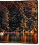 Autumn Boating At Argyle Lake Canvas Print