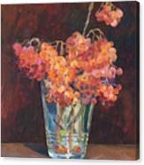 Autumn Bouquet Of Ashberries Canvas Print