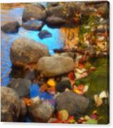 Autumn By The Creek Canvas Print