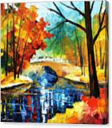 Autumn Calm 2 - Palette Knife Oil Painting On Canvas By Leonid Afremov Canvas Print