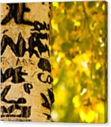 Autumn Carvings Canvas Print