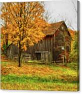 Autumn Catskill Barn Canvas Print