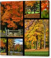 Autumn Collage Canvas Print