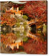 Autumn Colours At Daigo-ji Temple In Kyoto In Japan Canvas Print