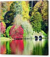 Autumn Colours By The Lake Canvas Print