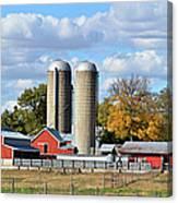 Autumn Elk Farm Canvas Print
