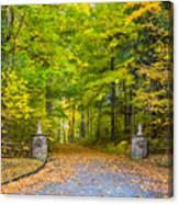 Autumn Entrance 3 Canvas Print
