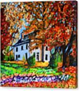 Autumn Farmhouse Canvas Print