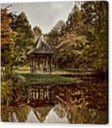 Autumn Gazebo Reflection Canvas Print