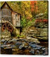 Autumn Glade Creek Grist Mill  Canvas Print