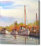 Autumn Harbor Canvas Print