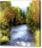 Autumn Harvest Along The River Canvas Print