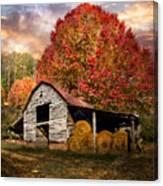 Autumn Hay Barn Canvas Print