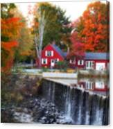Autumn House At The Falls Canvas Print