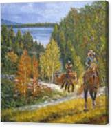 Autumn In Big Bear, 18x24, Oil, '08 Canvas Print