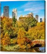 Autumn In Central Park 2 Canvas Print