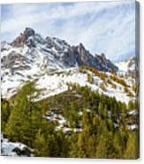 Autumn In French Alps - 18 Canvas Print
