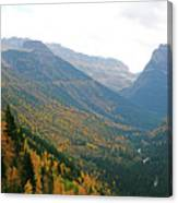 Autumn In Glacier Canvas Print