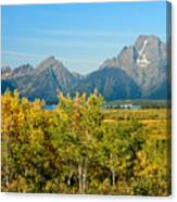 Autumn In Grand Teton National Park Canvas Print
