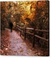 Autumn In Stride Canvas Print