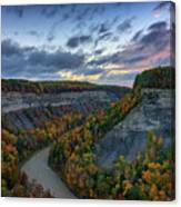 Autumn In The Gorge Canvas Print