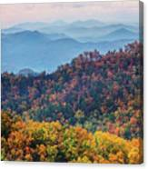 Autumn In The Great Smoky Mountains Canvas Print