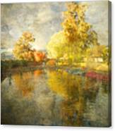 Autumn In The Pond Canvas Print