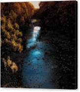 Autumn In The Tributary Canvas Print