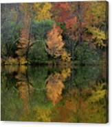 Autumn Lagoon Reflection  Canvas Print