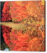 Autumn Lake Scenery Canvas Print