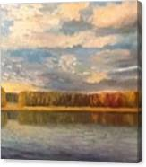 Autumn. Lake. Canvas Print