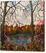Autumn Lake View Canvas Print