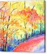Autumn Lane Iv Canvas Print