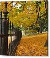 Autumn Leaves At Lafayette Park Canvas Print