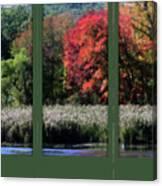 Autumn Marsh Through A Window Canvas Print