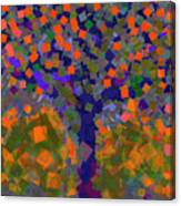 Autumn Message Tree Canvas Print