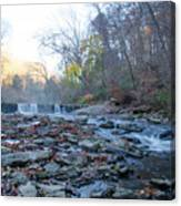Autumn Morning Along The Wissahickon Creek Canvas Print