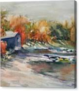 Autumn Morning At The Cove Canvas Print