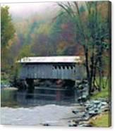 Autumn Morning Mist Canvas Print