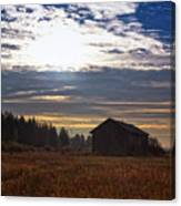 Autumn Morning On The Fields Canvas Print