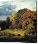 Autumn Oaks , George Inness Canvas Print