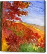 Autumn On The Cherohala Skyway Canvas Print