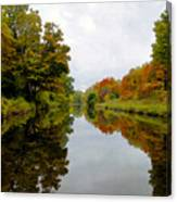Autumn On The Erie Canal Canvas Print